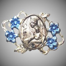 Saint Anne Virgin Mary Tiny Vintage Pin or Brooch
