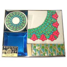 1960s Retro Party Tableware Kit Unused Napkins, Coasters, Matches