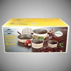 West Bend 8 Piece Silverstone Cookware Set Mint in Box
