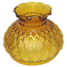Amber Hurricane Style Quilted Diamond Glass Lamp Shade