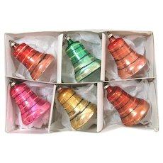 Box Austrian Glass Clapper Bells Christmas Ornaments