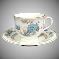 Noritake Bleufleur Cup and Saucer Set, 7 Available