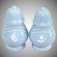 Pfaltzgraff Gazebo Blue Bouquet Salt and Pepper Shakers