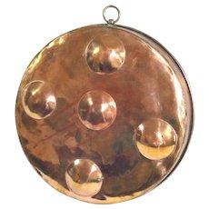Decorative Copper Primitive Style Flat Poaching Pan