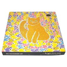 Marmalade Cat Springbok Editions Gloria Vanderbilt 1968 Jigsaw Puzzle