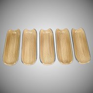 5 Pfaltzgraff Folk Art Corn on the Cob Holders