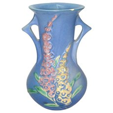 Roseville Foxglove Blue 6 inch Vase 43-6