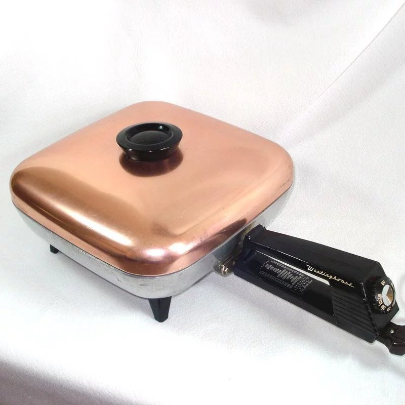Westinghouse 1950s Electric Skillet Frypan Pink Copper