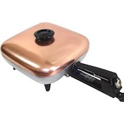 Westinghouse 1950s Electric Skillet Frypan Pink Copper Aluminum Cover