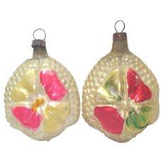 German Bumpy Flower Petal Feather Tree Christmas Ornaments