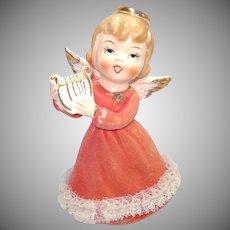 Japan Ceramic Angel With Lyre Figurine