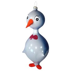 Italy Blown Glass Penguin Christmas Ornament
