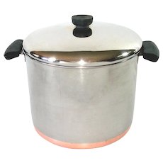 Revere Ware Copper Clad Stainless Steel 8 Quart Covered Stock Pot