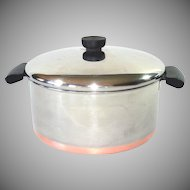 Revere Ware Copper Clad Stainless Steel Covered 4.5 Qt Sauce Pot