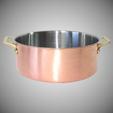 Copper Cookware 3 Quart Sauce or Stock Pot