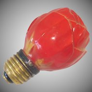 Austrian 1930s Standard Base Red Rose Figural Light Bulb Working