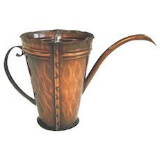 Craftsman Studios Mission Arts and Crafts Copper Watering Can