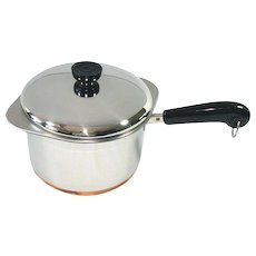 1984 Revere Ware 3 Qt Saucepan Double Boiler Mint in Box
