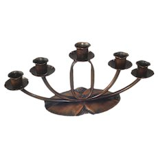 Craftsman Copper Mission Arts Crafts Style 5 Light Candelabra