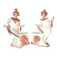 Treasure Craft 1950s Balinese Exotic Dancers Ceramic Planters