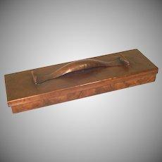 Craftsman Studios Hammered Copper Desk Pencil Box