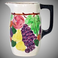 Blue Ridge Southern Pottery Sculptured Fruit Pitcher