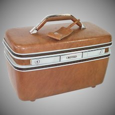 Samsonite Hardshell Train Case Cosmetic Travel Suitcase