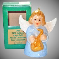Goebel 1980 Christmas Angel Bell Ornament in Box