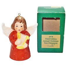 Goebel 1978 Christmas Angel Bell Ornament in Box