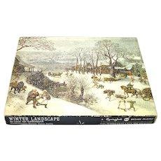 Winter Landscape Valckenborch Fine Art Springbok Jigsaw Puzzle