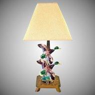 Maddux of California Pottery Ducks in Flight Table Lamp