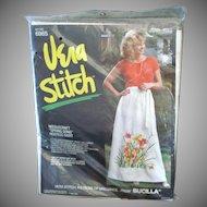 Bucilla Vera Neumann Spring Song Hostess Skirt Needlework Kit