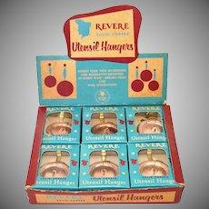 Revere Ware Solid Copper Utensil Hangers Mint in Box