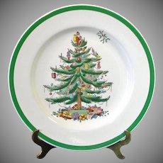 Spode Christmas Tree Dinner Plate 1976 Mint