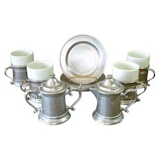 Wilton Armetale Plough Tavern 10 Piece Coffee Dessert Set