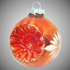 Shiny Brite Orange Double Indent Painted Christmas Ornament