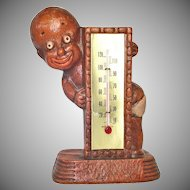Black Americana Diaper Dan 1949 Figural Thermometer