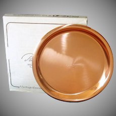 Revere Solid Copper Serving Tray in Original Box