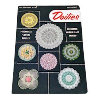 Crochet Doilies Star Pattern Instruction Booklet 1953