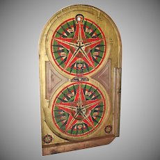 Lindstrom's Gold Star Pinball Game Board Dated 1933