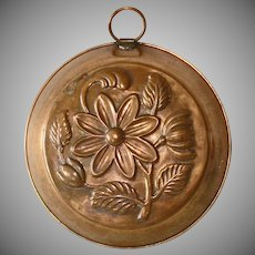 Denmark Copper Daisy Flower Pudding Mold