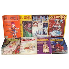 8 Issues National Doll World Magazine 1979