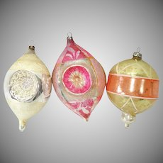 Germany Shabby Antique Glass Christmas Ornaments