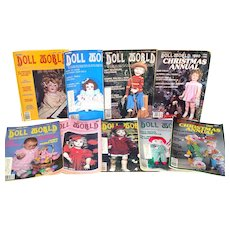 National Doll World Magazine 9 Issues 1980 - 1982