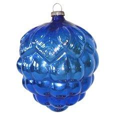 1920s Japan Cobalt Blue Grape Cluster Christmas Ornament