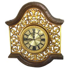 Syroco 1967 Retro Wall Clock Florentine Arches