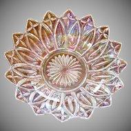 Federal Iridescent Petal 10 inch Glass Bowl
