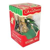 1950s Bradford Mistletoe Kissing Bell in Box