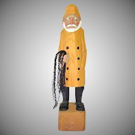 Folk Art Carved Wood Sea Fisherman Figure