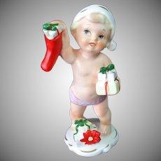 Napco Calendar Cutie December Christmas Toddler Baby Figurine